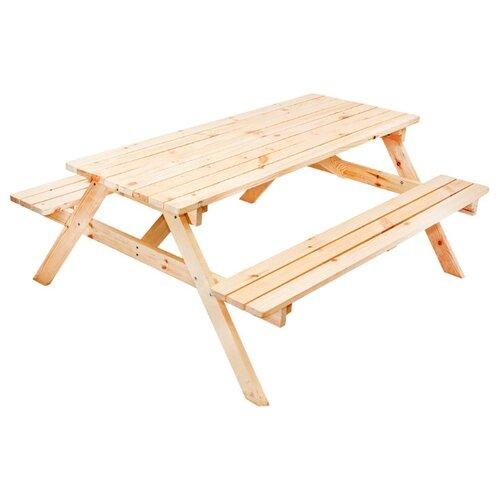 Комплект мебели ФОТОН Пикник (стол, 2 скамьи), без окраски