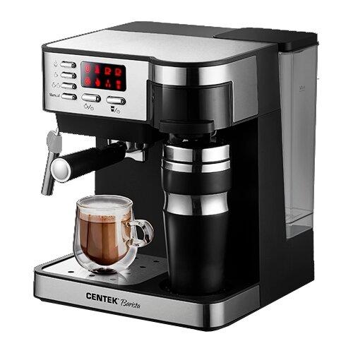 Кофеварка CENTEK CT-1162 черный/серебристый