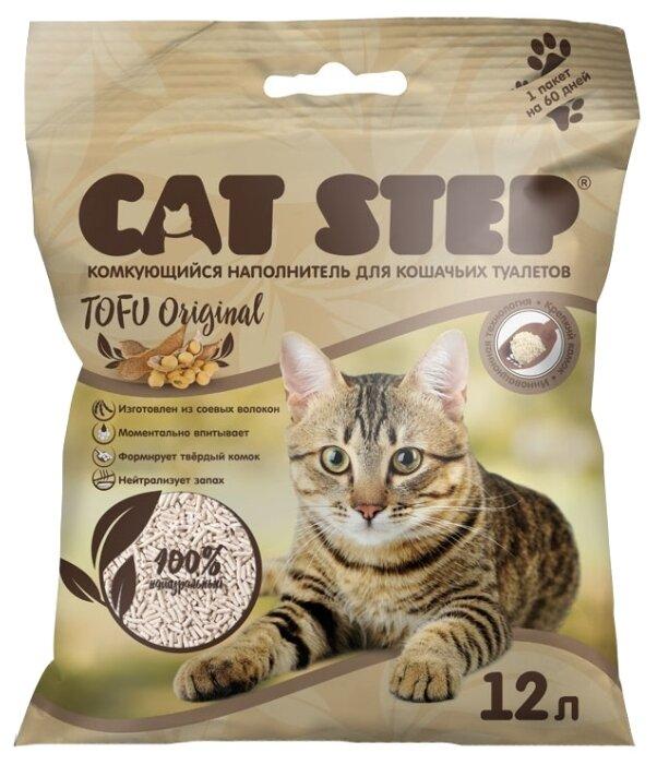 Наполнитель Cat Step Tofu Original растительный комкующийся (12 л)