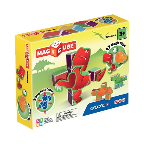 Купить Магнитный конструктор GEOMAG Magicube 141-7 Динозавры, Конструкторы
