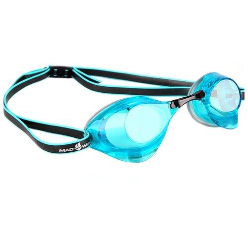 Очки для плавания MAD WAVE Turbo Racer II azure очки для плавания mad wave triathlon azure clear black