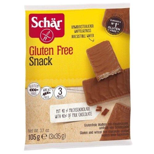 Вафли Schar Snack в шоколаде с орехами безглютеновые 105 г