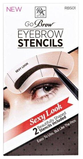 Трафареты для бровей Ruby Kisses Go Brow Eyebrow Stencils Sexy Look