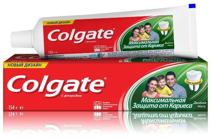 Зубная паста Colgate 50мл Максимальная защита от кариеса Двойная мята