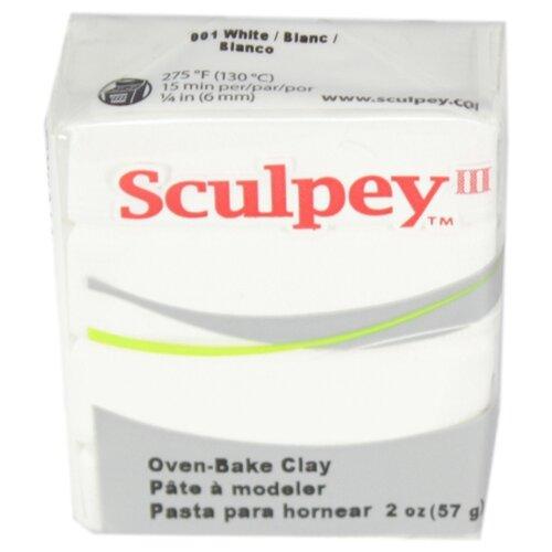 Купить Полимерная глина Sculpey III 001 (белый), 57г, Глина
