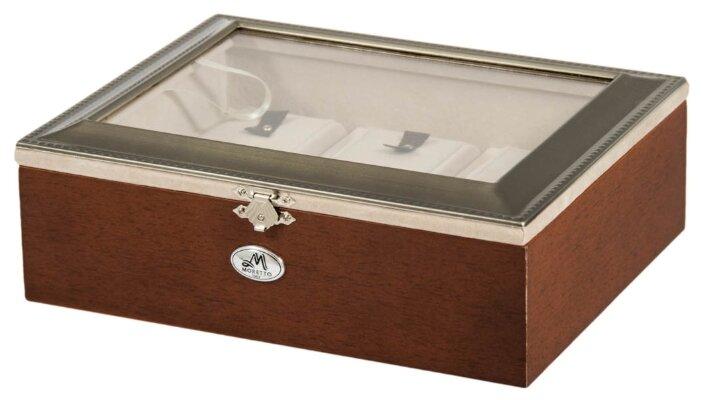 Шкатулка для ювелирных украшений и часов, 24x19x8 см., MORETTO