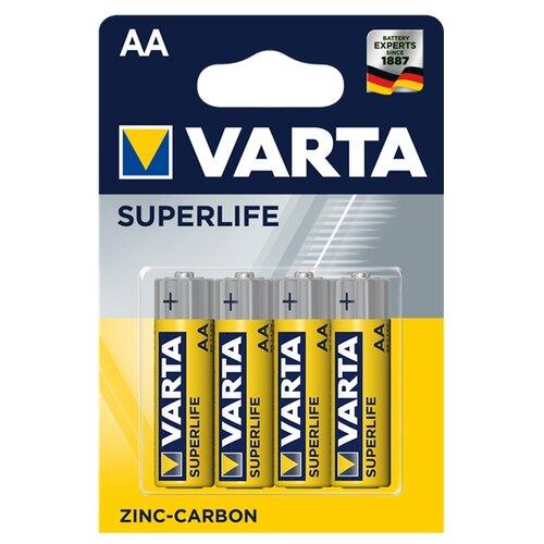Фото - Батарейка VARTA SUPERLIFE AA, 4 шт. батарейка c varta superlife 2014 r14 2 штуки 01240