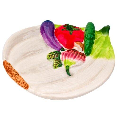ELFF decor Тарелка Бабушкины соленья 15х12х3 розовый/зеленый/фиолетовый открывалка галстук elff ceramics
