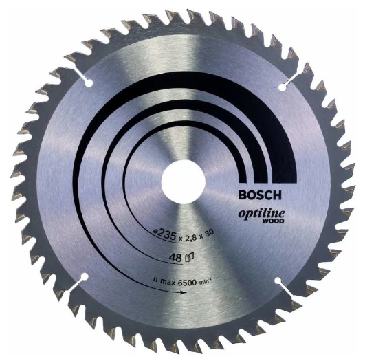 Пильный диск BOSCH Optiline Wood 2608640727 235х30 мм