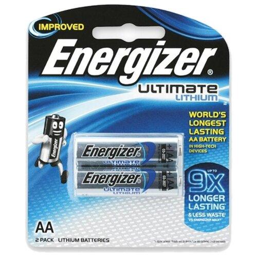 Батарейка Energizer Ultimate Lithium AA, 2 шт. батарейка energizer ultimate lithium cr2016 2 шт