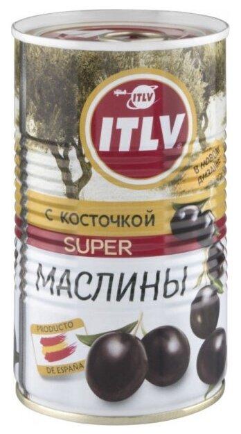 ITLV Маслины Super с косточкой в рассоле, жестяная банка 350 г