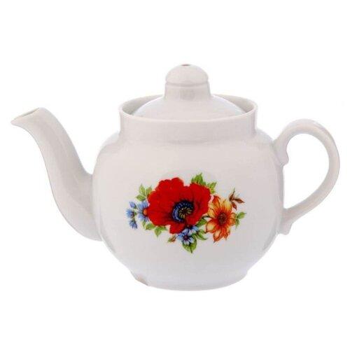 Дулёвский фарфор Заварочный чайник Янтарь 700 мл полевой мак