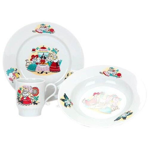Набор для завтрака Дулёвский фарфор Кошкин дом 3 предмета 053042 набор для завтрака osz disney cars принцессы 3 предмета
