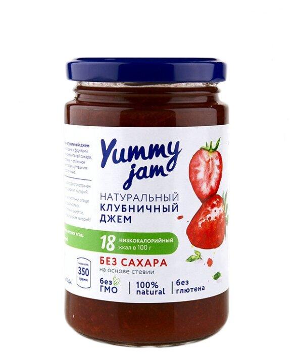 Джем Yummy jam натуральный клубничный без сахара, банка 350 г 350 г