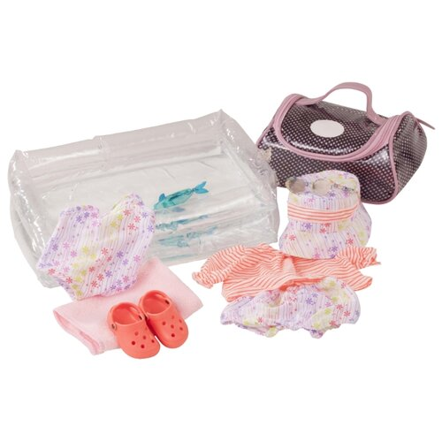 Купить Gotz Набор для купания Splish Splash для кукол 42-46 см 3402884 белый/розовый/коричневый, Одежда для кукол