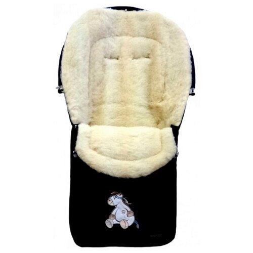 Купить Конверт-мешок Womar North pole в коляску 95 см 12 черный, Конверты и спальные мешки