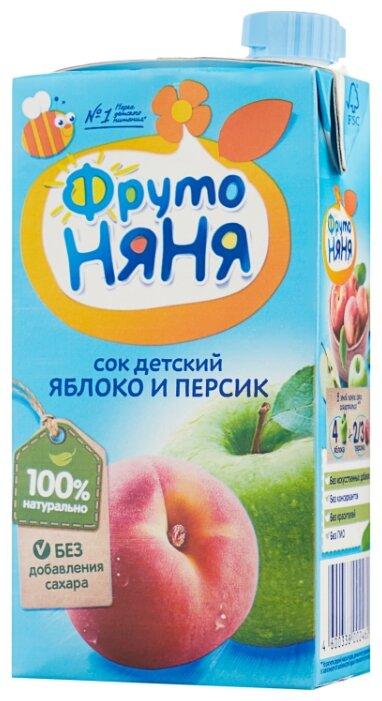 Сок ФрутоНяня из яблок и персиков, c 3 лет