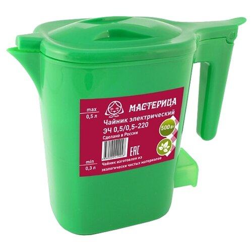 Чайник Мастерица ЭЧ 0,5/0,5-220, зеленый чайник мастерица эч 1 0 0 8 220 белый