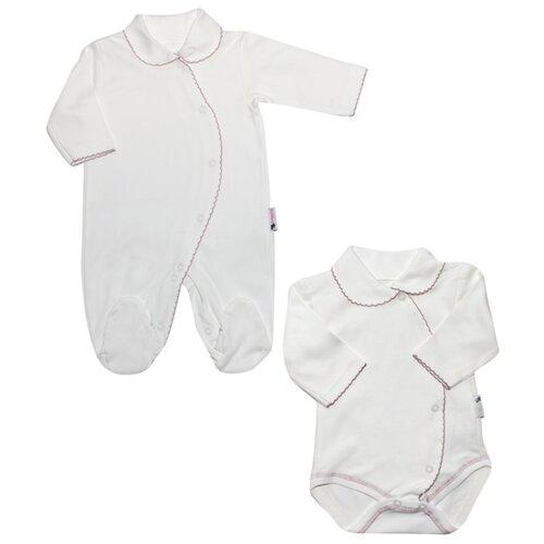 Комплект одежды Клякса размер 56, белый/фиолетовыйКомплекты<br>