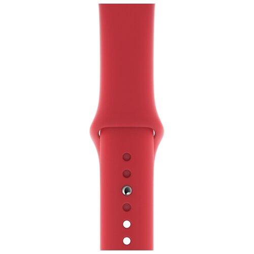 Apple Спортивный ремешок (для корпуса 40 мм), размеры S/M и M/L красный женское платье sv005485 s m l
