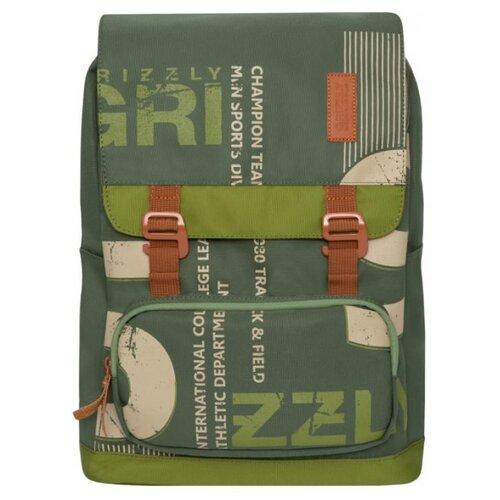 Рюкзак Grizzly RU-929-1 14 хаки/оливковый