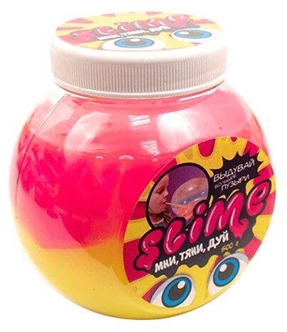 Лизун SLIME Mega Mix розовый + желтый, 500 г (S500-5)
