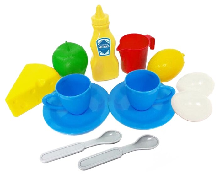 Набор продуктов с посудой Green Plast Завтрак на двоих НЗ013