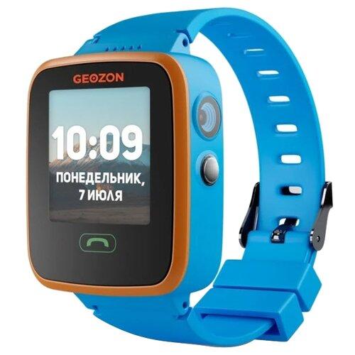 Детские умные часы c GPS GEOZON AQUA синий детские умные часы c gps geozon active розовый