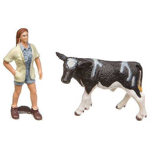 Купить Игровой набор Yako Мир вокруг нас: Корова и ветеринар Н93729, Игровые наборы и фигурки