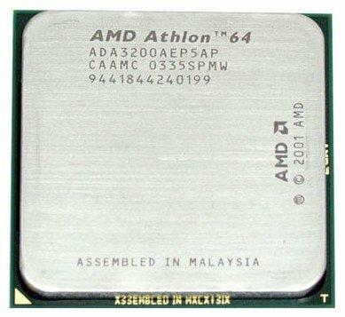 Процессор AMD Athlon 64 3200+ Clawhammer (S754, L2 1024Kb)