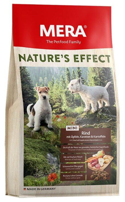 Корм для собак Mera (3 кг) Nature's Effect Mini с говядиной, яблоком, морковкой и картошкой для взрослых собак