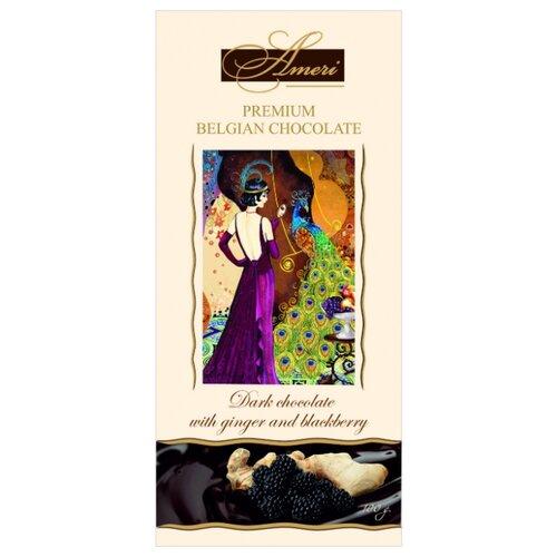 Шоколад Ameri горький с имбирем и ежевикой, 100 г