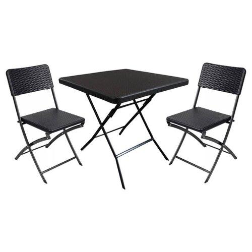 Комплект мебели Go Garden Napoli (стол, 2 стула), венгеКомплекты садовой мебели<br>