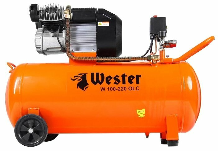 Компрессор масляный Wester W 100-220 OLC, 100 л, 2.2 кВт