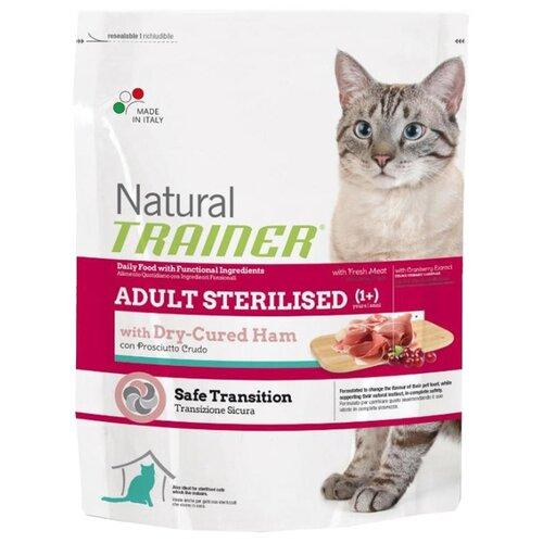 цена Корм для кошек TRAINER Natural Adult cat Sterilised Dry-Cured Ham dry (0.3 кг) онлайн в 2017 году