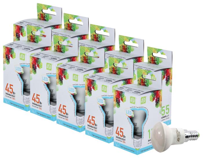 Упаковка светодиодных ламп 10 шт ASD E27, R63, 5 Вт, 4000 К