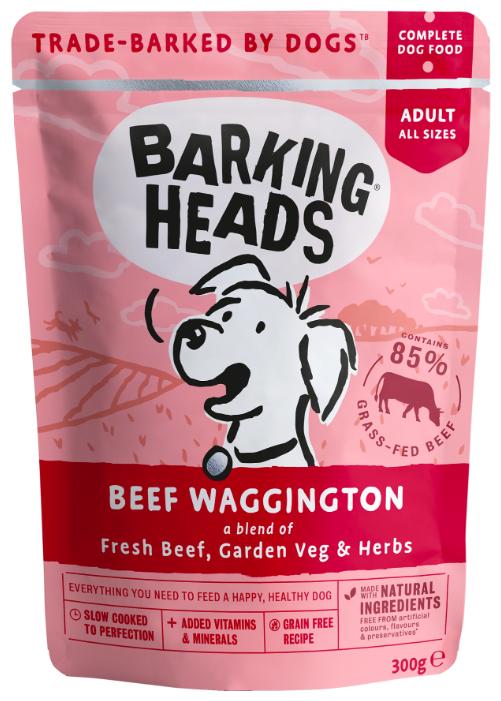 Корм для собак Barking Heads Beef Waggington паучи