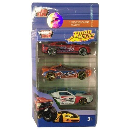 Купить Набор машин ТЕХНОПАРК из трех моделей Road Racing (1610I280-R) красный/оранжевый/белый, Машинки и техника