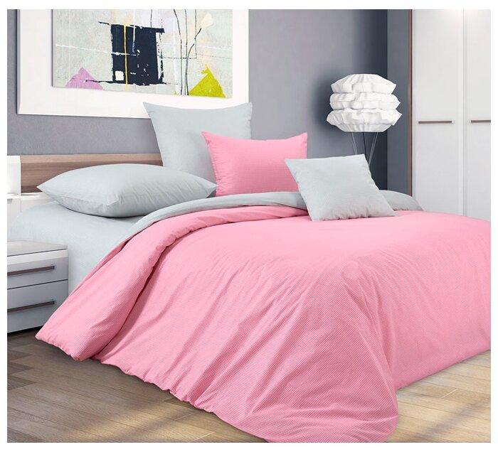 Постельное белье 2-спальное с евро простыней Текс-Дизайн Воздушный поцелуй, перкаль
