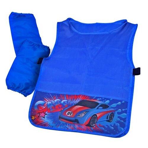 Купить BG фартук-накидка с нарукавниками Super Car (ФНТ_пэ 2078) синий, Одежда для уроков труда
