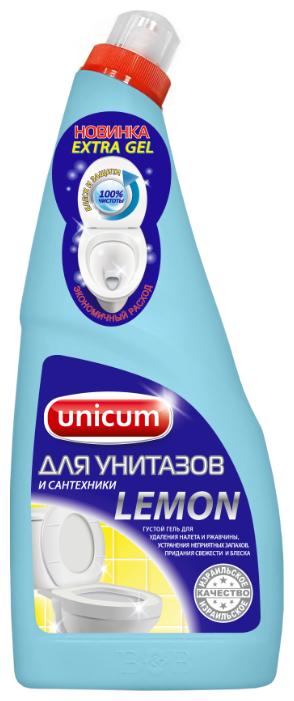 Unicum гель для унитаза лимон 0.75 л