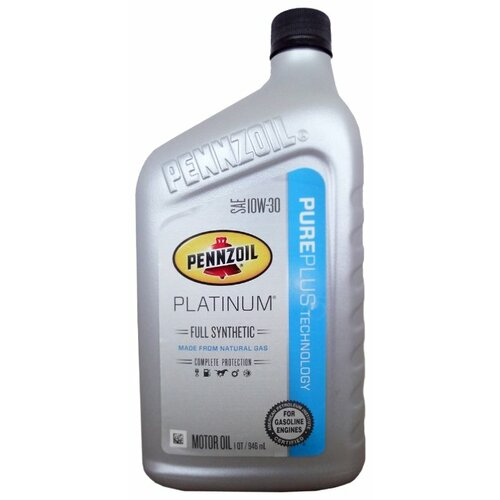 Фото - Моторное масло Pennzoil Platinum Full Synthetic SAE 10W-30 0.946 л моторное масло pennzoil gold synthetic blend sae 5w 30 0 946 л