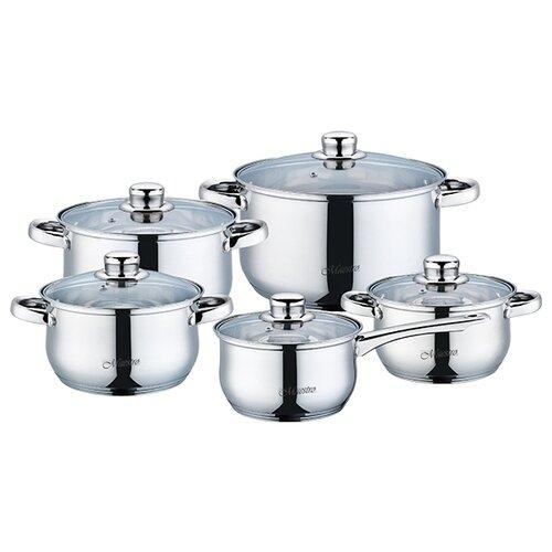 Набор посуды Maestro MR 2020-10 10 пр. серебристый