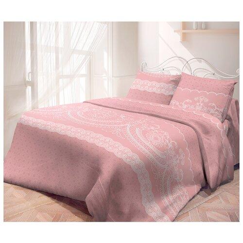 Постельное белье семейное Самойловский текстиль Кружевная пудра 50 x 70 бязь розовыйКомплекты<br>