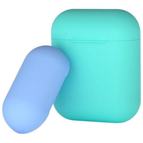 Чехол Deppa для AirPods двухцветный mint/blue