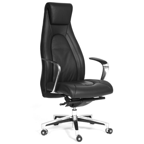 Компьютерное кресло Chairman Fuga, обивка: натуральная кожа, цвет: черныйКомпьютерные кресла<br>