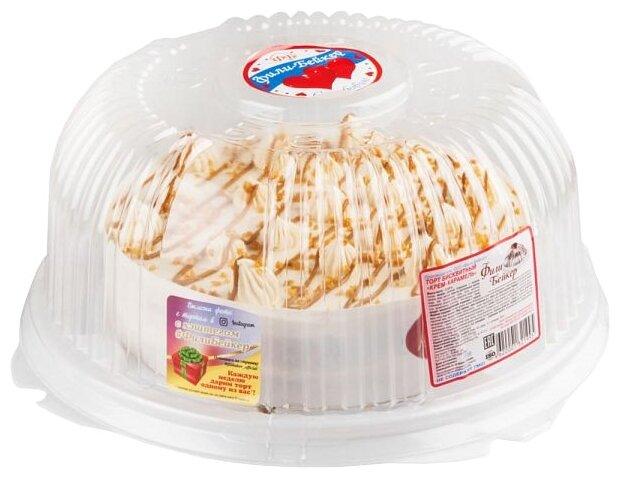 Торт бисквитный Фили-Бейкер Крем-карамель, 0.69 кг