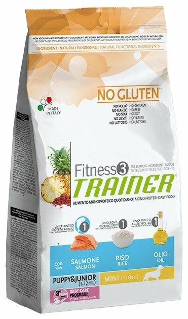 Корм для собак TRAINER Fitness3 No Gluten Puppy&Junior Mini Salmon and rice dry (2 кг)