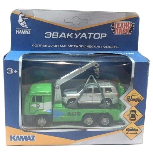 Купить Набор машин ТЕХНОПАРК КамАЗ + Toyota Land Cruiser (SB-17-24-R-WB) зеленый/серебристый, Машинки и техника