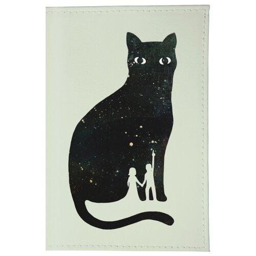 Обложка для паспорта Mitya Veselkov Космическая кошка OZAM261, ПринтОбложки для документов<br>